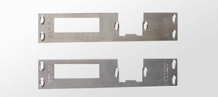 Für Türoberseite, sehr stabile Stahlkomponente.